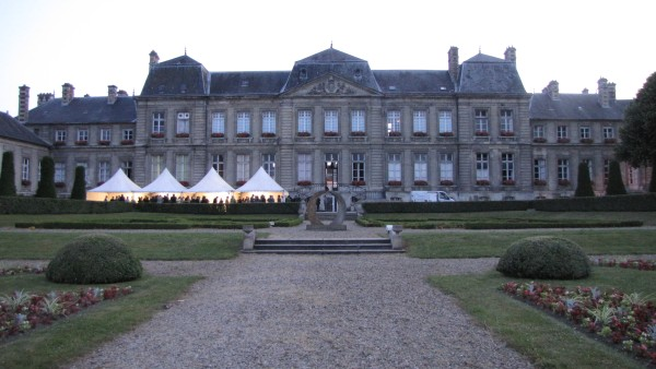 Champagne and snacks at the Mairie of Soissons
